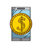 Smartphone device icon Stock Image