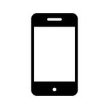 Smartphone device isolated icon Stock Photo