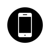 Smartphone device isolated icon Royalty Free Stock Image