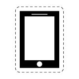 Smartphone device mobile technology pictogram Stock Image