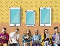 Smartphone Devices Wireless Mobile Cellphone Concept Stock Images