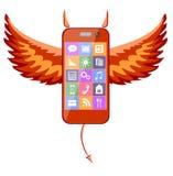 Smartphone devil Stock Photo
