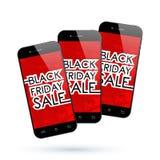 Smartphone di Black Friday Fotografie Stock Libere da Diritti