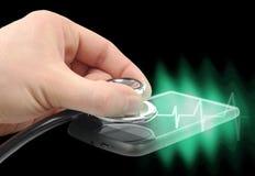 Smartphone diagnostica Immagine Stock