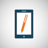 smartphone digital with pen design isolated Stock Images