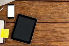 Smartphone and digital tablet with diary Royalty Free Stock Photos