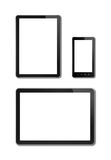 Smartphone and digital tablet pc mockup template Royalty Free Stock Image