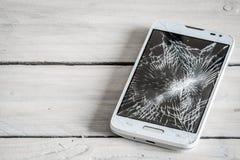 Smartphone display with broken glass Stock Photo