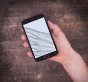 Smartphone display showing an x-ray Royalty Free Stock Image