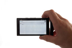 Smartphone a disposición Fotografía de archivo