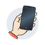 Smartphone a disposizione Fotografia Stock