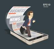 Smartphone do negócio ilustração royalty free