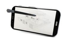 Smartphone do projeto ilustração royalty free