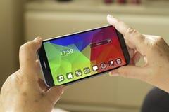 Smartphone do sistema operacional Fotos de Stock