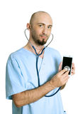 Smartphone doctor Royalty Free Stock Image