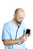 Smartphone doctor Royalty Free Stock Photography