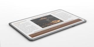 smartphone du rendu 3d avec des épices Images stock