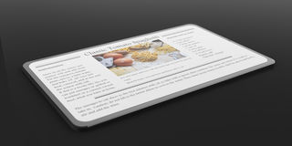 smartphone du rendu 3d avec la recette Photos libres de droits