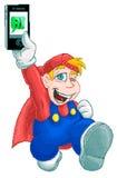 Smartphone Dude Stock Image