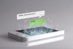 Smartphone e ícones da mensagem Foto de Stock