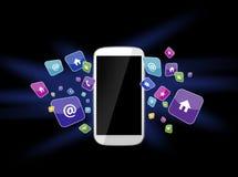 Smartphone e apps Imagens de Stock