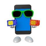 Smartphone e carte SIM Fotografia Stock
