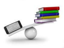 Smartphone e libri Fotografie Stock