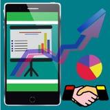 Smartphone ed azione Immagini Stock Libere da Diritti