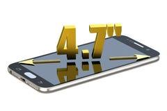 Smartphone ekran z 4 7 cali diagonalnych Obrazy Stock
