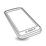 Smartphone em um ângulo - genérico ilustração royalty free