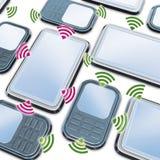 Smartphone en de tablet van aanslutingen Royalty-vrije Stock Afbeelding