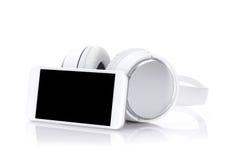 Smartphone en hoofdtelefoons royalty-vrije stock foto's