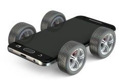 Smartphone en las ruedas libre illustration
