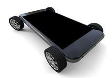 Smartphone en las ruedas stock de ilustración