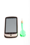 Smartphone en pijltje Royalty-vrije Stock Fotografie