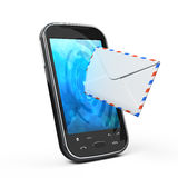 Smartphone and envelope Royalty Free Stock Images