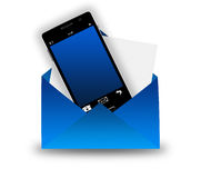 Smartphone in envelope Royalty Free Stock Images