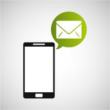 Smartphone and envelope email application. Vector illustration eps 10 Royalty Free Stock Image
