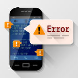 Smartphone with error message bubble Stock Photos