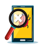 Smartphone error system safety icon design Stock Image