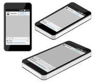 Smartphone est en bandeau différent de trois positions, a isométrique Image libre de droits