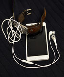 Smartphone et rétro montre Image stock
