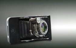 Smartphone et vieux hybrides Image libre de droits