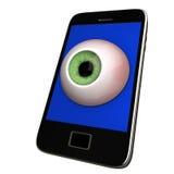 Smartphone eye Royalty Free Stock Photography