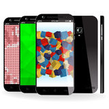 Smartphone färg Royaltyfri Bild