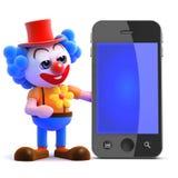 smartphone för clown 3d Royaltyfri Bild