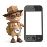 smartphone för utforskare 3d stock illustrationer