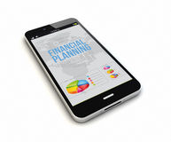 Smartphone financial planning render Stock Photography