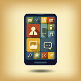 Smartphone flat design icons Royalty Free Stock Photography