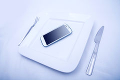 Smartphone Food Royalty Free Stock Images